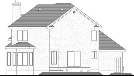 House Plan 49963 Rear Elevation