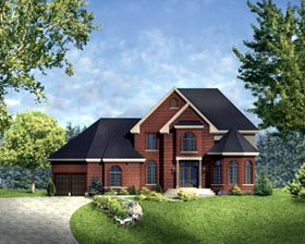 House Plan 49965 Elevation
