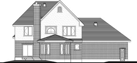 House Plan 49965 Rear Elevation