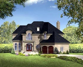 House Plan 49967 Elevation