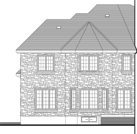 House Plan 49967 Rear Elevation