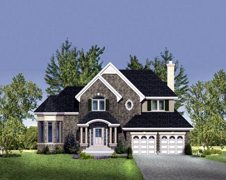 House Plan 49968 Elevation