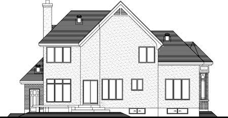 House Plan 49968 Rear Elevation
