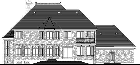 House Plan 49970 Rear Elevation