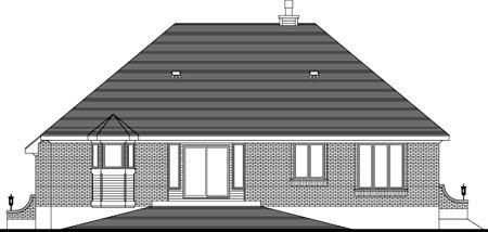 House Plan 49971 Rear Elevation