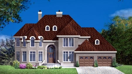 House Plan 49972 Elevation