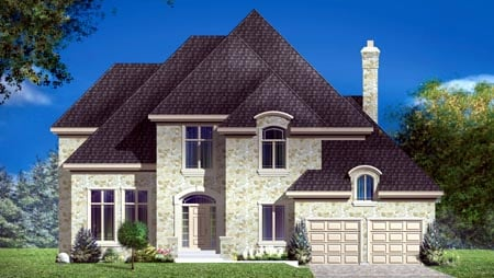 House Plan 49973 Elevation