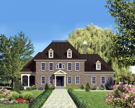 House Plan 49975 Elevation