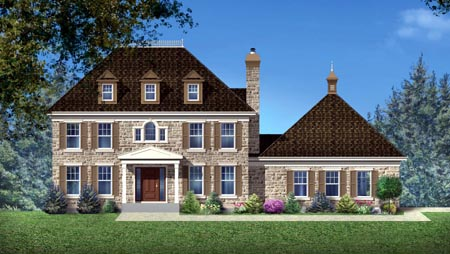 House Plan 49977 Elevation