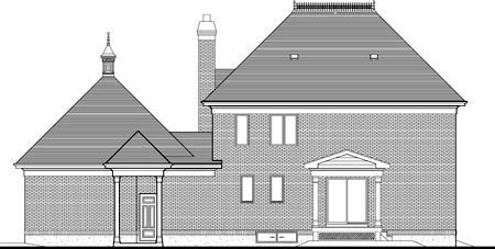 House Plan 49977 Rear Elevation