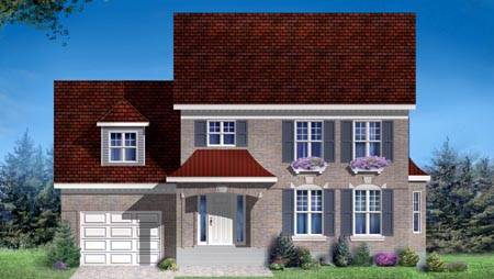 House Plan 49978 Elevation