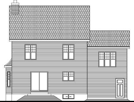 House Plan 49978 Rear Elevation