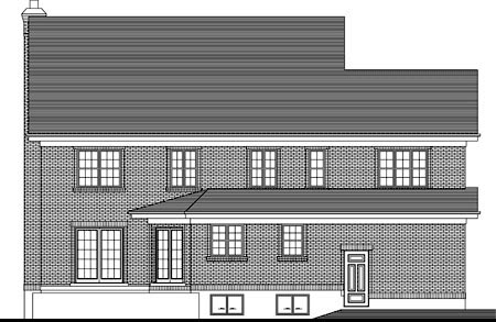 House Plan 49979 Rear Elevation