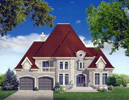House Plan 49980 Elevation