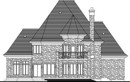 House Plan 49980 Rear Elevation