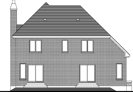 House Plan 49981 Rear Elevation