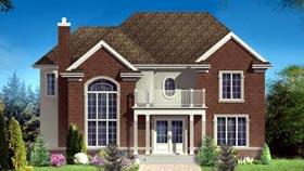 House Plan 49982 Elevation