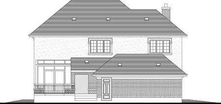 House Plan 49982 Rear Elevation