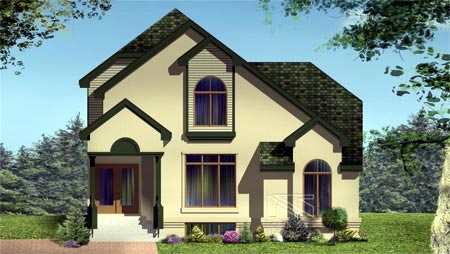 Multi-Family Plan 49983 Elevation