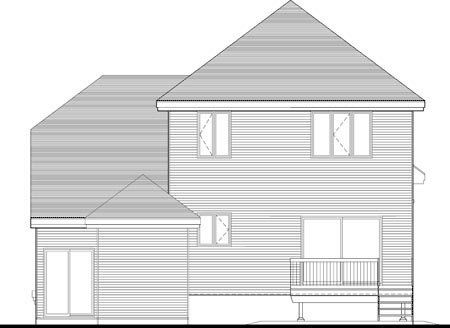 Multi-Family Plan 49983 Rear Elevation