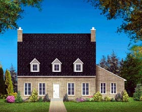 House Plan 49987 with 3 Beds, 2 Baths Elevation
