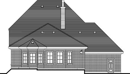 House Plan 49988 Rear Elevation