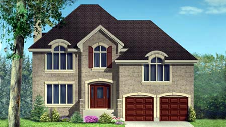 House Plan 49989 | Style Plan with 2483 Sq Ft, 3 Bedrooms, 2 Bathrooms, 2 Car Garage Elevation