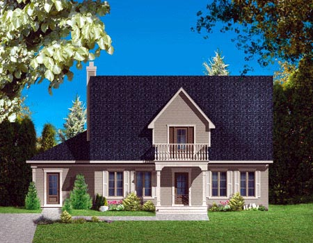 House Plan 49990 Elevation