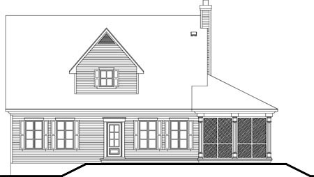 House Plan 49990 Rear Elevation