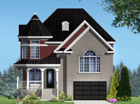 House Plan 49993 with 3 Beds, 2 Baths, 1 Car Garage Elevation