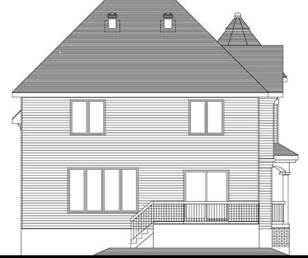 House Plan 49993 Rear Elevation