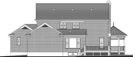 House Plan 49995 Rear Elevation