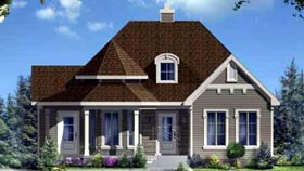 House Plan 49996 with 3 Beds, 2 Baths Elevation