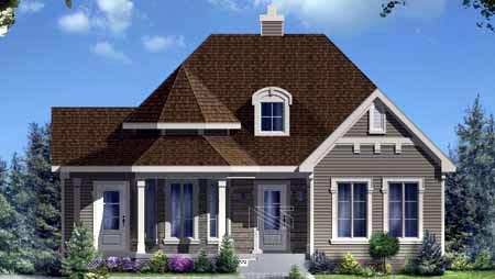 House Plan 49996 Elevation