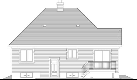 House Plan 49996 Rear Elevation
