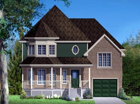House Plan 49998 Elevation