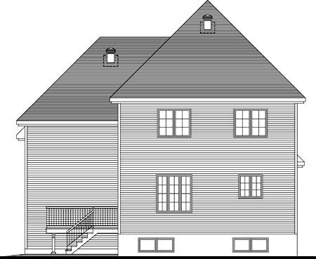 House Plan 49998 Rear Elevation