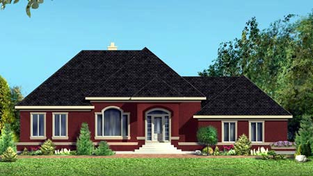 House Plan 49999 Elevation