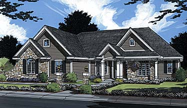 Traditional House Plan 50001 Elevation