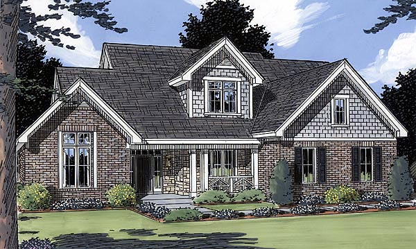 Country , Traditional House Plan 50002 with 3 Beds, 3 Baths, 2 Car Garage Elevation