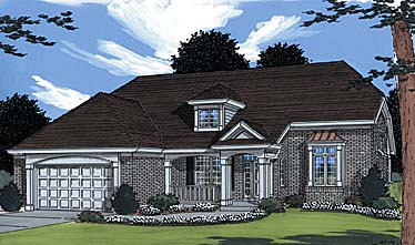 Colonial Traditional House Plan 50003 Elevation