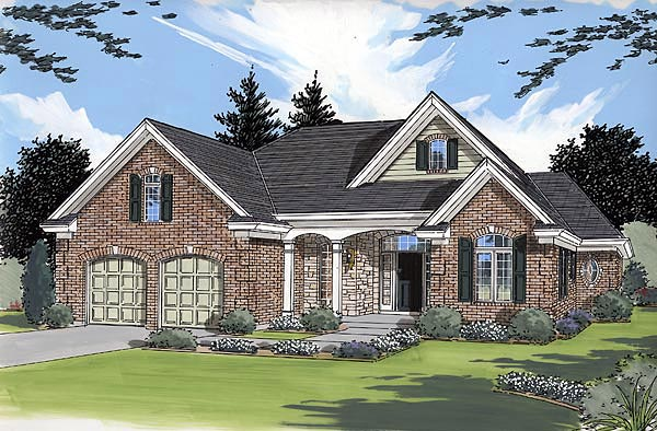 Bungalow Traditional House Plan 50004 Elevation