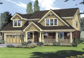 Bungalow Country House Plan 50006 Elevation