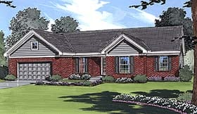 Ranch Traditional House Plan 50007 Elevation