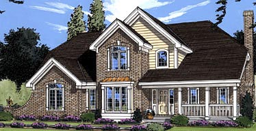 Country, European, Traditional House Plan 50008 with 4 Beds, 3 Baths, 2 Car Garage Elevation