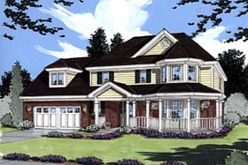 Country Farmhouse Victorian House Plan 50009 Elevation