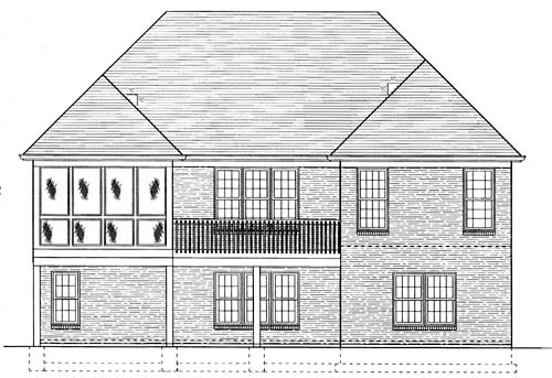 Traditional House Plan 50014 Rear Elevation