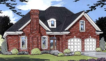 European House Plan 50016 Elevation