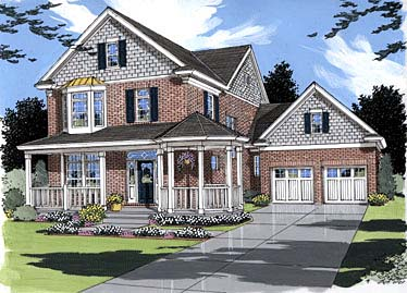 Country Victorian House Plan 50018 Elevation