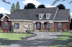 Country House Plan 50019 with 3 Beds, 4 Baths, 2 Car Garage Elevation